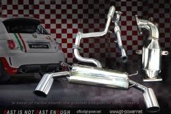 FIAT ABARTH-500 / GT 2 Streetracing Auspuffanlage 60mm ab Turbo 1