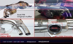 Audi R8 Sport- Auspuffanlage Vollsystem ab Kat - 5.2 FSI 09- 2012 4