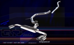 Audi TT-MK2 Coupe 2.0 TFSI 07- Sport- Auspuffanlage ohne MSD mit Racing Downpipe + Euro 4 Racing Kat 76mm (3teilig) 1