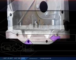 Ölwanne modifiziert für Hauplagerversteifungsplatte 1,8T 3