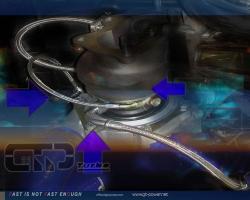 Turbo ( TFSi Garrett Big) Wasser & Ölleitungs-Installtionskit Audi/Vag 3