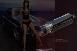 60-50mm - Titan - Black Chrome -Twister Sport-ESD 1