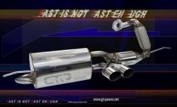 Smart ForTwo 1.0L-451  (´08-´10) - Motorsport Auspuffanlage mit HJS Kat 1