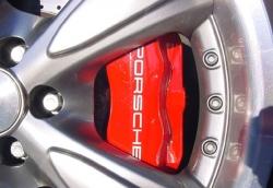 PORSCHE 4 KOLBEN - 322x32mm BREMSENKIT Rot 3